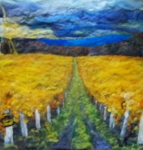 "Vineyard, Seneca lake. `16x18"" sold"